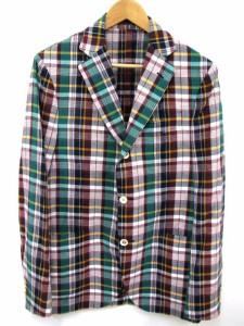 ラルディーニ LARDINI テーラード ジャケット マドラス チェック シングル 3B コットン マルチカラー 48 171112OK02B メンズ