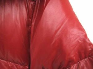 デュベティカ DUVETICA KAPPA カッパ ダウン コート フード ラクーンファー レッド 赤 42 ☆AA★ レディース ベクトル【中古】