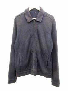 無印良品 良品計画 ニット セーター ステンカラー ジャケット ブルゾン L 紺 ジップアップ メンズ/G141 メンズ ベクトル【中古】