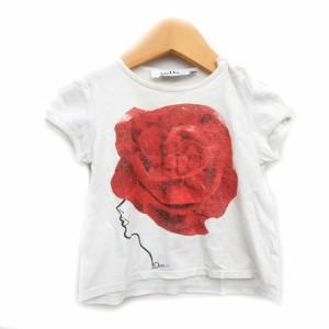 693920c28c309 ベビーディオール baby Dior Tシャツ カットソー バラ プリント 白 赤 12M ベビー 子供 ジュニア