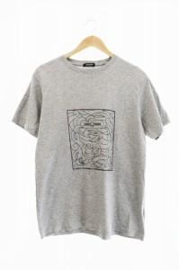 【中古】ロンワンズ LONE ONES Nest T-Shirts 半袖 プリント Tシャツ M グレー 中古 210313 0015 メンズ