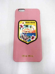 56136338bc84 ミュウミュウ miumiu iPhoneplus 5ZH007 アイフォン6プラス ケース 190226☆ レディース