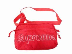 【中古】シュプリーム SUPREME 18AW Shoulder Bag ロゴ プリント ショルダーバッグ レッド 210108 ☆AA★ 026 メンズ
