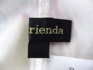 リエンダ rienda ワンピース S 黄 イエロー ポリエステル シフォン 花柄 ベア レディース ベクトル【中古】