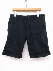 ウールリッチ WOOLRICH ワークパンツ ショート ジップポケット 紺 32 ※MK 0916  【中古】 ベクトル【中古】