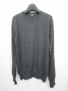 無印良品 良品計画 カシミヤ セーター ニット 長袖 灰 M 0406 ベクトル【中古】