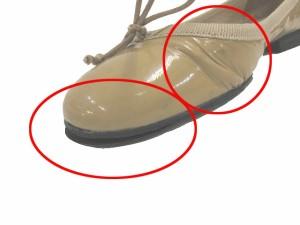 ファビオルスコーニ FABIO RUSCONI パンプス ペタンコ 靴 シューズ エナメル リボン 36 マスタード系 レディース ベクトル【中古】