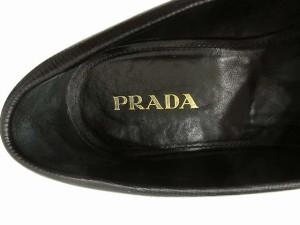 プラダ PRADA サフィアーノ レザー コイン ペニー ローファー茶 カカオ ブラウン 黒 ブラック 37.5 約24.5cm Y レディース