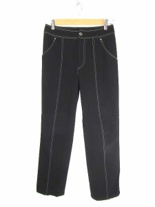 ビキ BIKI パンツ スラックス ストレッチ 綿 40 黒 レディース