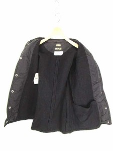 マルタンマルジェラ Martin Margiela 6 コート ブルゾン ジャケット ヘビーウェイト 長袖 綿混 44 黒 国内正規品 レディース