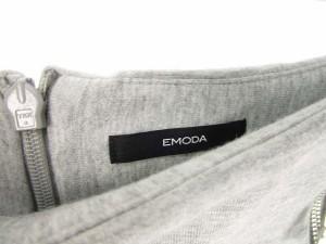 エモダ EMODA スカート ミニスカート 台形 無地 S グレー レディース