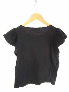 エムプルミエ M-Premier カットソー Tシャツ 袖切替 半袖 天竺ニット 36 黒 レディース ベクトル【中古】