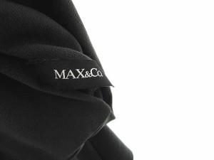 マックス&コー MAX&CO. ワンピース ニット ハイネック リボンベルト付 半袖 ひざ丈 L グレー 国内正規品 レディース ベクトル【中古】