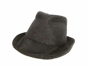 f78a810b6fde クリストフコパン christophe coppens ハット 帽子 中折れ 変形 フエルト 起毛 ブラック 黒 美品 レディース