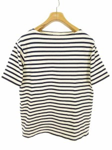 a4b2db864d2f72 オーチバル ORCIVAL オーシバル バスクシャツ ボーダー Tシャツ カットソー 半袖 4 生成り ネイビー メンズ