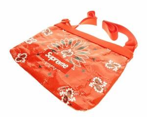 【中古】シュプリーム SUPREME 21SS Bandana Tarp Side Bag ショルダー バッグ バンダナ柄 赤 ▲☆AA★ 210515 0030