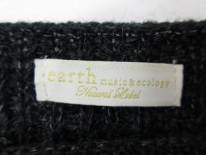 アースミュージック&エコロジー EARTH MUSIC & ECOLOGY ボートネックニット F 黒系 長袖 ブラック セーター トップス  ベクトル【中古】