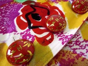 2085aed19ff29 シャネル CHANEL ワンピース ノースリーブ 花柄 ココマーク 36 赤 ピンク 白 イエロー 緑 パープル レディース