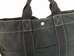 c5634920bc1e エルメス HERMES フールトゥMM トートバッグ キャンバス かばん 鞄 黒 メンズ/レディース/ユニセックス
