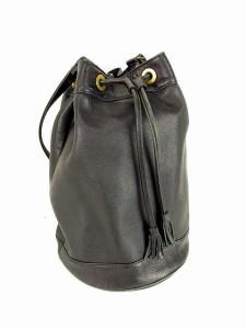 77d88c5183e8 アニエスベー ボヤージュ Agnes b. VOYAGE 巾着型 レザー ショルダーバッグ バケツ型 鞄 黒 ブラック