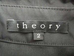 セオリー theory ステンカラーコート 比翼 スナップボタン ショート丈 ジャケット 無地 2 黒 ブラック S84894 レディース