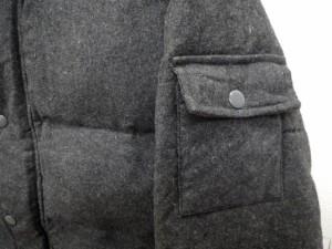 ジーアールエヌ grn ダウンジャケット フード ハーフ丈 ウール混 アウター M グレー Y86946 メンズ ベクトル【中古】