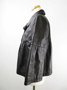 インディヴィ INDIVI レザー ジャケット ペプラム 38 黒 ブラック レディース ベクトル【中古】