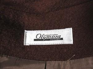 Olympia オリンピア ジャケット スナップボタン 長袖 ウール 総裏地 アースカラー 茶 ブラウン M 【中古】