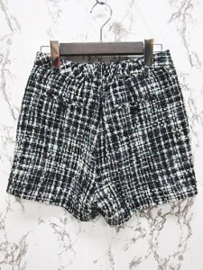 アンナケリー Anna Kerry ショートパンツ キュロットスカート ツイード 白 黒 ホワイト ブラック 38 【中古】