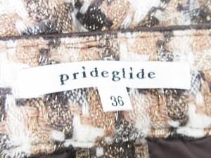 プライドグライド prideglide ショートパンツ 総柄 36 茶 ブラウン レディース