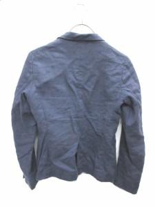 ユニクロ UNIQLO テーラードジャケット 1B シングル リネン100 S ネイビー レディース ベクトル【中古】