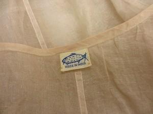 ノーブランド ベスト シースルー オーガンジー 刺繍 ベージュ ※M- レディース