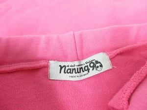 ナンニングナイン naning9 スカート スウェット タイト ひざ丈 カラー フロントスリット M ピンク レディース