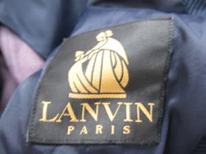ランバン LANVIN ジャケット テーラードジャケット 厚手 無地 S ネイビー メンズ ベクトル【中古】