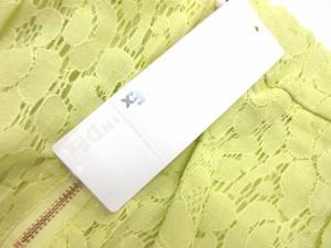 未使用品 インデックス INDEX パンツ ショートパンツ 刺繍 レース L 黄色 ※I 7/7 レディース ベクトル【中古】