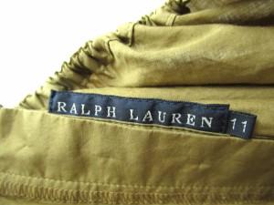 ラルフローレン RALPH LAUREN スカート ロング マキシ丈 フレア リボン L 茶 ブラウン ※R ベクトル【中古】