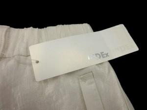 未使用品 インデックス INDEX パンツ ショートパンツ メタリック 光沢 無地 L アイボリー ※I 5/14 レディース ベクトル【中古】
