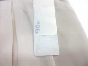 未使用品 インデックス INDEX スカート ミニ丈 タック入り バイカラー 無地 M オフホワイト ※I 3/5 レディース