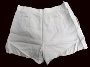 未使用品 インデックス INDEX パンツ ショートパンツ ベルト付き とろみ 無地 L ベージュ ※I 2/5  レディース