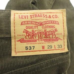 リーバイス Levi's パンツ ブーツカット コーデュロイ 無地 537 29 茶色 レディース ベクトル【中古】