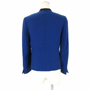 デプレ DES PRES トゥモローランド テーラード ジャケット フックボタン 1 青 ブルー アウター※L レディース ベクトル【中古】
