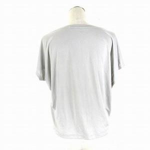 ユニクロ UNIQLO Tシャツ カットソー 半袖 無地 ライトグレー S トップス レディース ベクトル【中古】