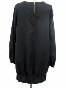 オゾック OZOC ワンピース コクーン ラメ ひざ丈 長袖 38 黒 【中古】 ベクトル【中古】