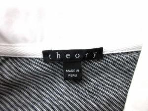 セオリー theory ポロシャツ 半袖 ボーダー 白 黒 S  【中古】 ベクトル【中古】