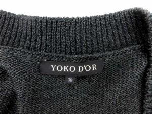ヨーコドール YOKO D'OR カーディガン 七分袖 ラメ混 38 黒 /TK レディース