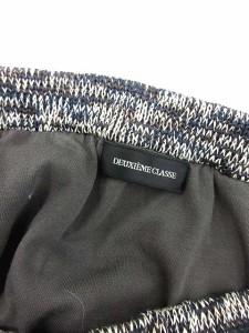 ドゥーズィエムクラス DEUXIEME CLASSE スカート ミニ 台形 フリンジ 紺 /EK レディース ベクトル【中古】