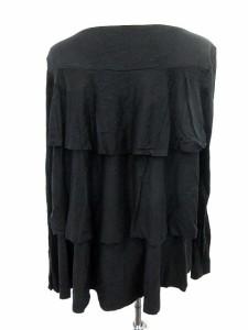 ヴィヴィアンウエストウッドレッドレーベル Vivienne Westwood RED LABEL カットソー フリル チュニック 長袖 3 黒 /☆G レディース