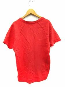 ロデオクラウンズ Rodeo Crowns カットソー Tシャツ スウェット 半袖 プリント ロゴ 赤 1 /YK レディース ベクトル【中古】
