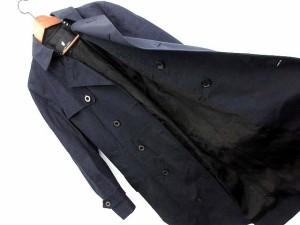 ブラックレーベルクレストブリッジ BLACK LABEL CRESTBRIDGE トレンチコート 異素材 切替 ロング M 紺 /☆K メンズ
