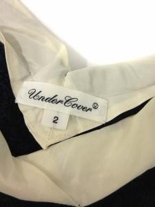 アンダーカバー UNDERCOVER カットソー 七分袖 切替 ベロア ボア グレー 紺 白 2 /TU レディース